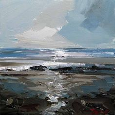 """Daily Paintworks - """"Nordsee"""" - Original Fine Art for Sale - © Jurij Frey Abstract Landscape Painting, Seascape Paintings, Landscape Art, Landscape Paintings, Abstract Oil, Oil Paintings, Guache, Contemporary Abstract Art, Modern Art"""