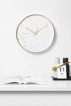 Structure Marble Clock with Golden Case by Cloudnola | From Cloudnola.me