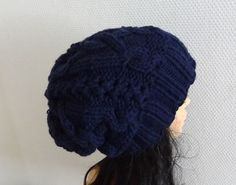 women slouchy  beanie hat  Slouch Beanie  Large hat  by Ifonka