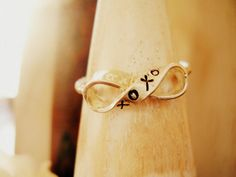 Infinity Ring xoxo Silver Ribbon Infinity Symbol by NatsukoJewelry, $60.00
