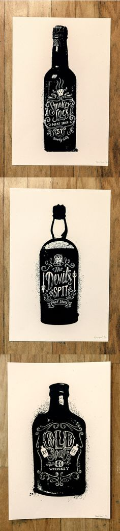 Bottle Prints by Conrad Garner.