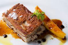 Santa Gula Restaurant: Segovian boneless suckling pig with caramelized mango