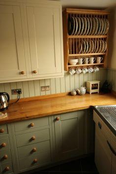 Warwickshire oak plate rack is kitchen show piece – The Plate Rack Co Ltd - cheap kitchen cabinets Kitchen Rack Design, Plate Racks In Kitchen, Diy Kitchen Storage, Kitchen Redo, Rustic Kitchen, Country Kitchen, New Kitchen, Diy Plate Rack, Plate Storage