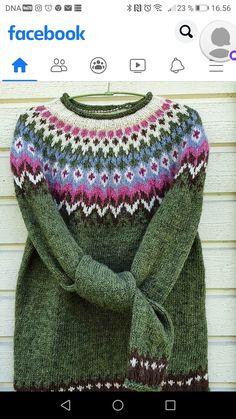 Icelandic Sweaters, Fair Isle Knitting Patterns, Knit Crochet, Wool, Crafts, Fashion, Women, Moda, Manualidades