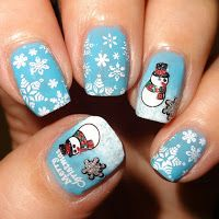 Wendy's Delights: Glitter Christmas Nail Stickers from Charlies Nail Art. 10% DISCOUNT CODE USE WDB10 AT CHECKOUT!  @charliesnart #nailart #christmas #christmasnails #snowman #snowflakes #nailstickers