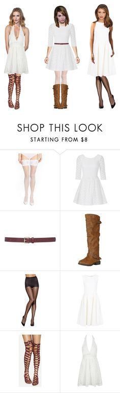 """""""White and sassy clothes"""" by ascarroll ❤ liked on Polyvore featuring Wolford, Lilly Pulitzer, M&Co, Hanes, ADAM and WithChic"""