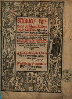 Minucí ... - Jan Codicillus z Tulechova - 1575 - 1576
