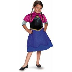 Plus Size Frozen Traveling Anna Basic Plus Child Dress Up / Halloween Costume, Girl's, Size: Small, Multicolor Anna Costume, Frozen Costume, Up Halloween Costumes, Halloween Party, Lace Skirt, High Waisted Skirt, Dress Up, Dresses For Work, Plus Size