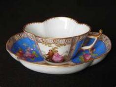 Image detail for -Antique German Porcelain Dresden Teacup Saucer Portrait for sale - VSS ...