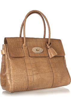 Mulberry croc-effect leather bag   NET-A-PORTER.COM