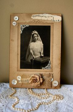 For your consideration...please read description    Blessed is a altered antique cabinet card measuring 6.5 inches wide by 9.5 inches tall.  I