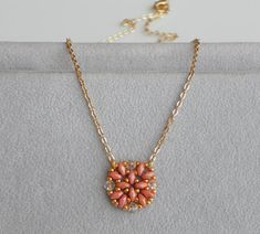 Peach Pendant Necklace  6 Colors to Choose by lizaluksenberg, $27.00