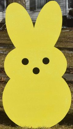 Items similar to Giant Easter Bunny Peeps, Outdoor Easter Decoration, Painted Wood Yard Art, Easter Bunny Rabbit Peeps, Garden Stake Lawn Yard Stakes on Etsy Bunny Painting, Painting On Wood, Rock Painting, Wood Yard Art, Wood Art, Easter Peeps, Easter Bunny, Rabbit Crafts, Easter Crafts