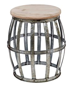 Galvanized Metal Accent Table