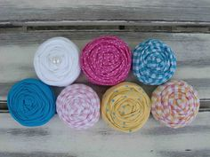 Sarah Beth fabric rosettes by sugarsugarhigh on Etsy, $10.50