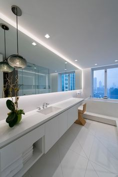 Place Soft Strip along bathroom mirrors to illuminate the space and create a floating effect | Personalized Lighting Idea for bathrooms | LED Soft Strip SS2P - by Edge Lighting