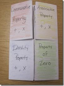 Properties foldable (notice...this is a 5th grade teacher's activity and we're teaching it in 2nd!):
