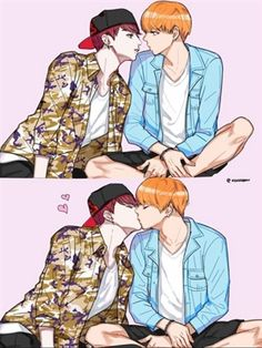 Taehyung x Jungkook Yoonmin Fanart, Vkook Fanart, Fanart Bts, Fanfiction, Bts Kiss, Manga Anime, Bts Imagine, Wattpad, Bts Drawings