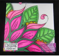 Card made using a sheet from one of the Colorista colouring pads #crafterscompanion #coloristaspectrumnoir #adultcolouring