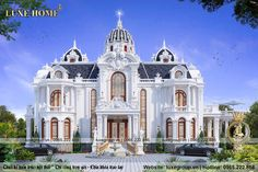 Classic House Exterior, Classic House Design, House Arch Design, House Plans Mansion, Leelah, Model House Plan, Garden Villa, French Architecture, Luxury Homes Dream Houses