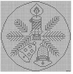 Crochet Cross, Thread Crochet, Crochet Motif, Crochet Doilies, Crochet Patterns, Cross Stitch Borders, Cross Stitch Designs, Cross Stitch Patterns, Crochet Christmas Ornaments