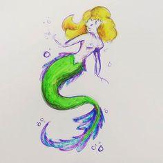 #mermaid #sketch #Doddle #color