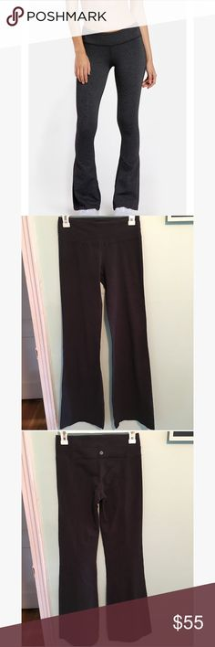 Lululemon dark gray pants Size 4 in excellent condition. No holes or stains or peeling lululemon athletica Pants Boot Cut & Flare