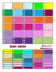 free heart checklist and littles pretty multicolor free planner stickers @planner.PICKETT