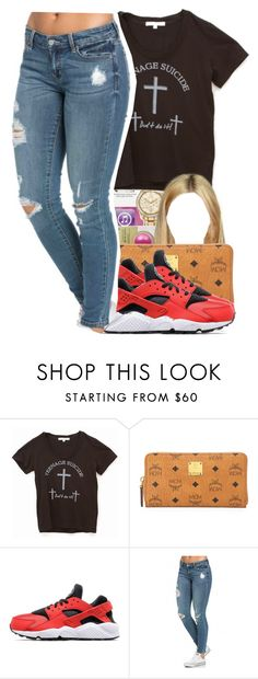 """""""Sans titre #368"""" by lesliekabengele ❤ liked on Polyvore featuring Sophomore, MCM and NIKE"""