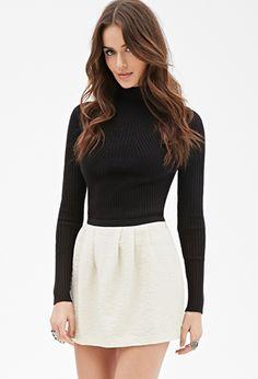 Pleated Textured Skirt | FOREVER21 | #styleguide