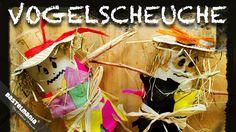 VOGELSCHEUCHE Bastel Anleitung Herbst Deko DIY SCARECROW Instruction Autumn Decoration