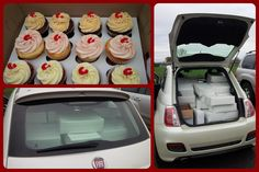 2100 cupcakes in a FIAT