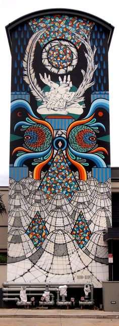 Beastman's Entrancing Murals Play with Color and Symmetry | Hi-Fructose Magazine