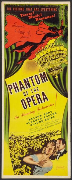 Ten Valuable Phantom of the Opera (1943) Movie Posters & Collectibles