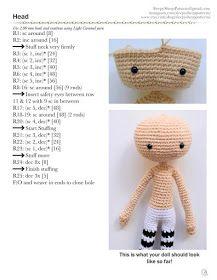 KUFER z artystycznym rękodziełem : Bajkowa lala ze wzorem darmowym Crochet Hats, Amigurumi, Knitting Hats