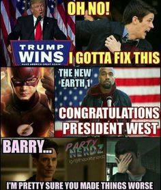 BARRY... I'm pretty sure you made things worse