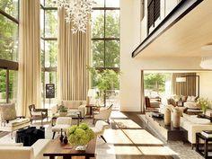 Great floor to ceiling windows. High ceiling. Living room.  @DestinationMars
