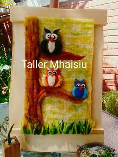 Taller Mhaisiu decoraciones Patricia Needle Felting, Projects To Try, Weaving, Quilts, Crochet, Crafts, Diy, Painting, Rugs