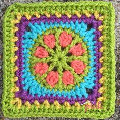Posy Wheel Brights 1... Free pattern!