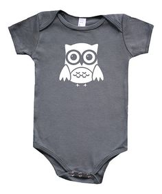 Look at this #zulilyfind! Charcoal Owl Bodysuit - Infant by My Lullabug #zulilyfinds