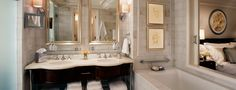 This bathtub at the St. Regis in Atlanta: I've never been a big fan of Atlanta, but after staying at the St. Regis and taking a bath in the best bathtub in the best bathroom ever, I changed my mind.