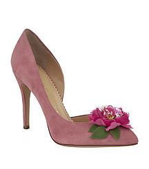 View the Vamp In Bloom Suede Pump