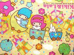 Cute Japanese Cotton Fabric-Kiki And Lala-Little Twin Stars Half Yard (F485), via Flickr.