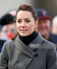 Catherine, Duchess of Cambridge undertakes a walkabout in Castle Square, Caernarfon during a day of engagements in North Wales on November 20, 2015 in Caernarfon, Wales.