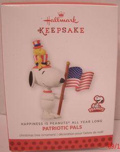 Hallmark Ornament 2014 Patriotic Pals Christmas NEW NIB Happiness is Peanuts #12