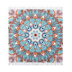 Mandala Fringe Cotton Tapestry Throw - Christmas Tree Shops and That! - Home Decor, Furniture & Gifts Store Xmas Tree Shop, Christmas Tree, Cotton Throws, Gift Store, Beach Mat, Mandala, Outdoor Blanket, Tapestry, My Favorite Things