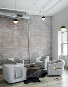 This industrial Tribeca loft was recently designed by Decor Aid for a young family. When a client finished remodeling her newly TriBeCa loft Rustic Loft, Industrial Loft, Industrial Living, Vintage Industrial, Kitchen Industrial, Industrial Apartment, Industrial Bedroom, Industrial Design, White Washed Furniture