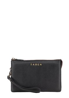 Saben Tilly Black Leather Handbag Wallet Clutch New Zealand