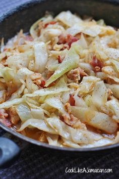 Jamaican Cabbage and Saltfish Recipe... delicious, exotic, & (if you use sugar-free ketchup) low carb. Those are some good eats.  (Atkins Diet friendly Sugar-Free Ketchup recipe: http://recipes.sparkpeople.com/recipe-detail.asp?recipe=2615070)