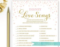 Pink and Silver Bridal Shower Games . Disney by hellorosepaperie